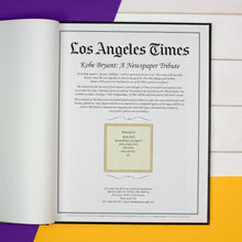 Load image into Gallery viewer, Personalised Kobe Bryant Tribute – LA Times Newspaper Book