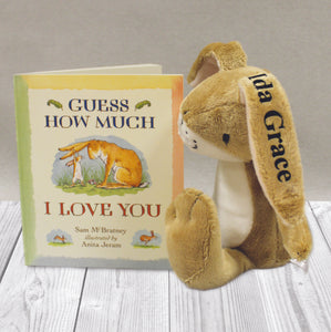 Guess How Much I Love You Book & Personalised Toy Gift Set