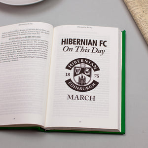 Personalised Hibernian FC On This Day Football Book