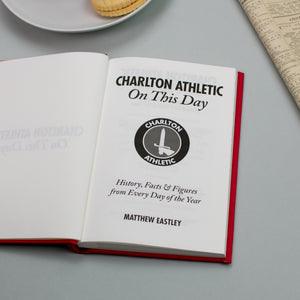 Personalised Charlton Athletic On This Day Football Book