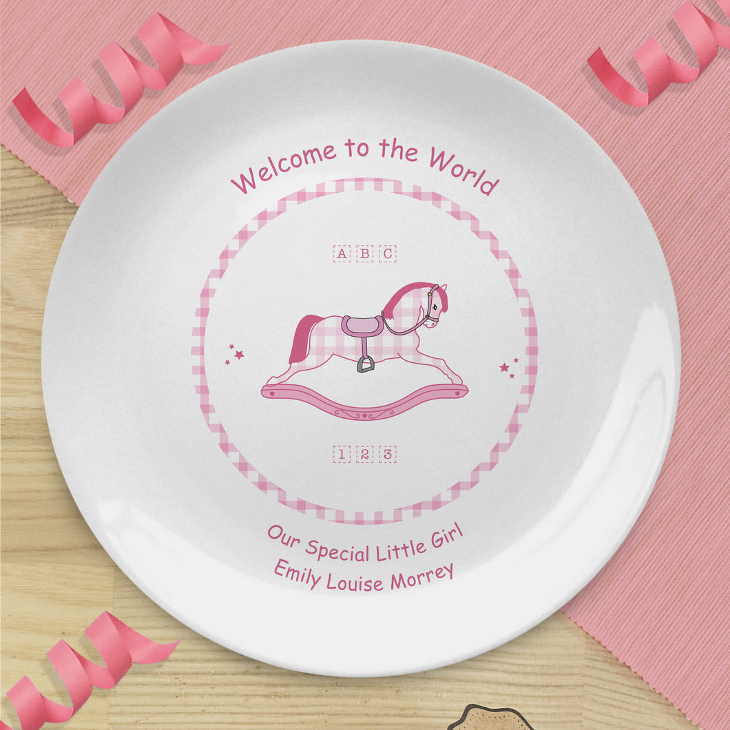 Personalised Welcome To The World Bone China Keepsake Plate