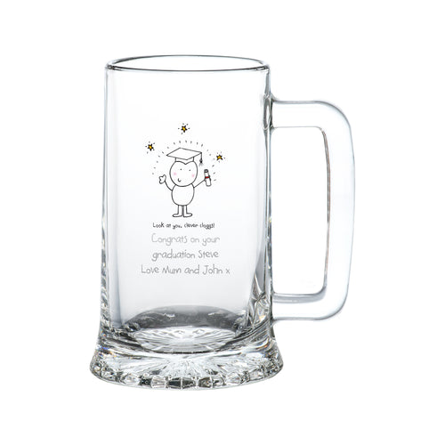Personalised Graduation Glass Stern Tankard