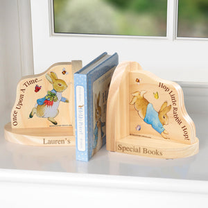 Personalised Peter Rabbit Wooden Bookends
