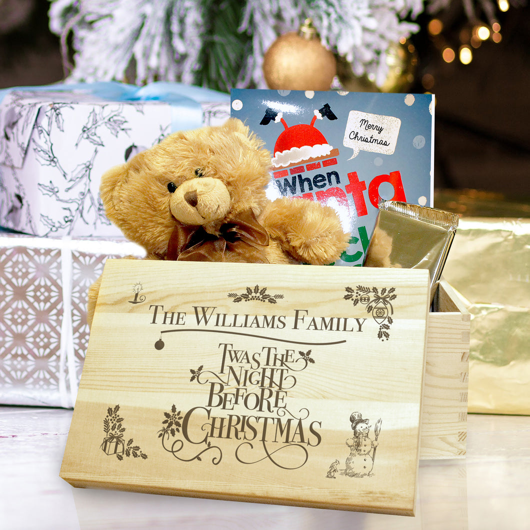 Personalised Twas The Night Before Christmas Large Christmas Eve Box