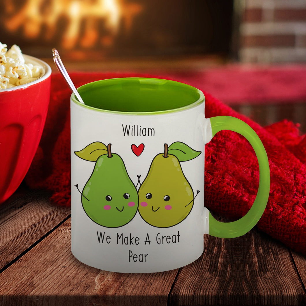 Personalised We Make A Great Pear Ceramic Mug