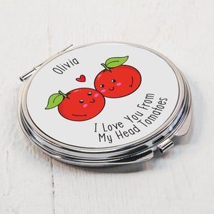 Personalised From My Head Tomatoes Compact Mirror