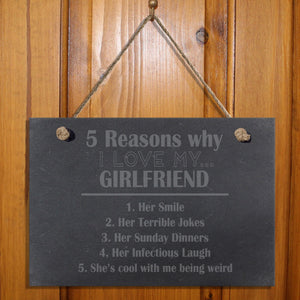 Five Reasons Why Personalised Slate Hanging Sign