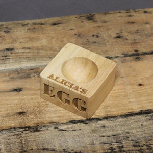 Personalised Wooden Egg Holder