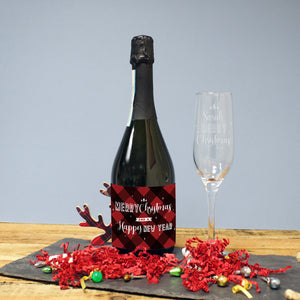 Merry Christmas Prosecco & Personalised Flute Gift Set