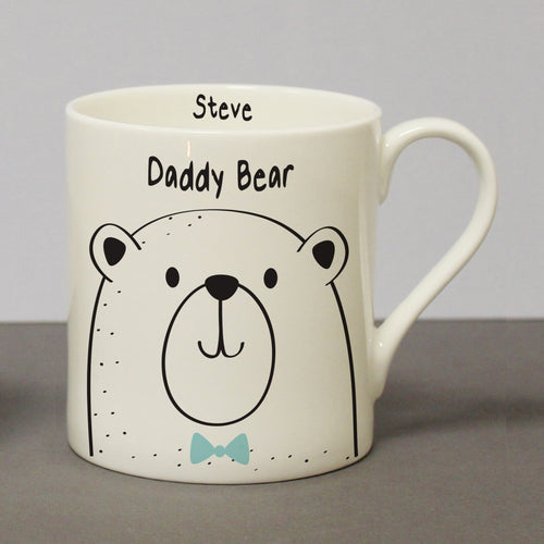 Personalised Daddy Bear Bone China Mug