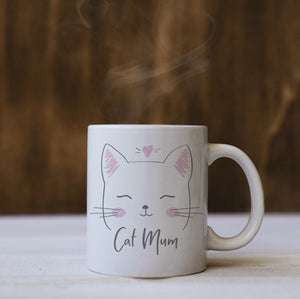 Personalised Cat Mum Mug