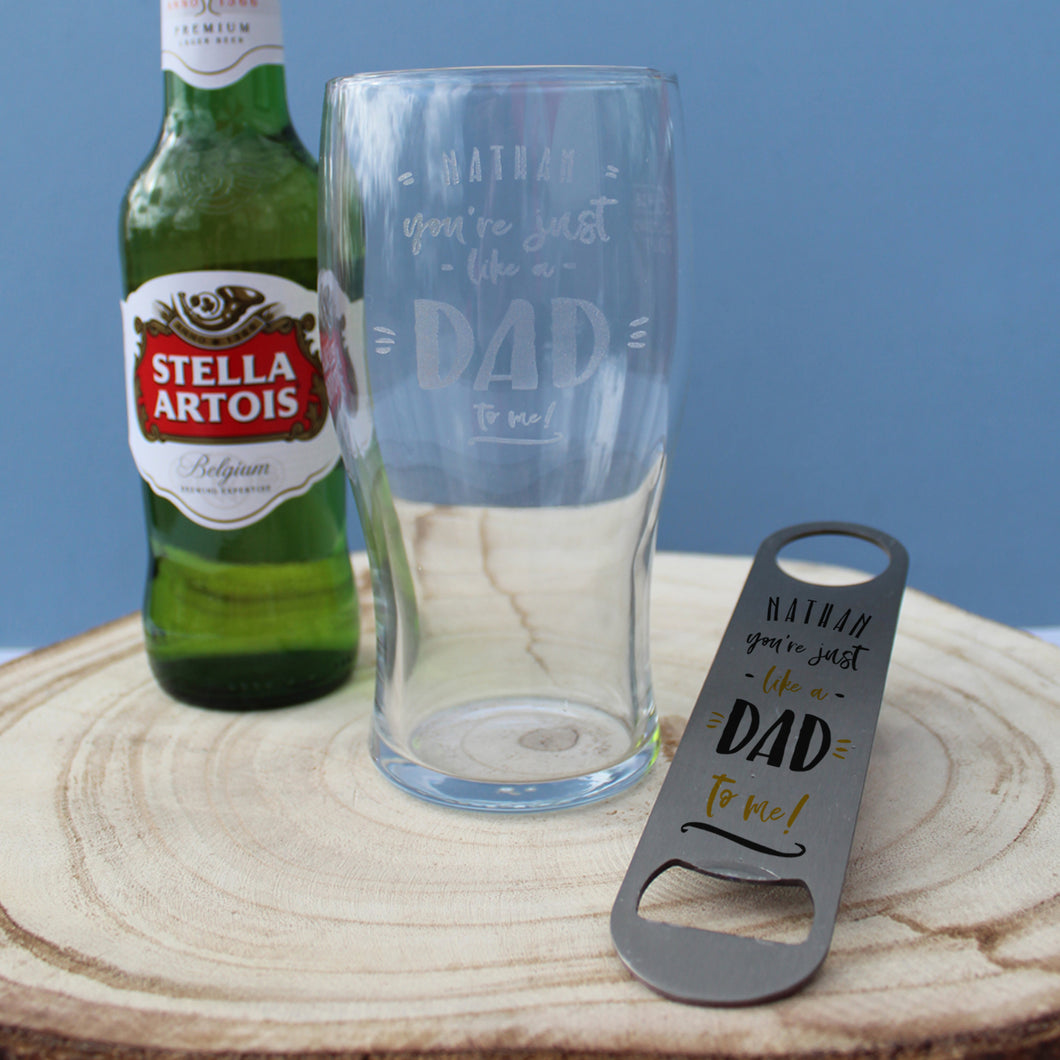 Personalised You're Just Like A Dad To Me Lager Gift Set