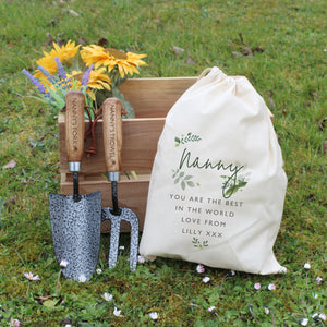 Personalised Fork & Trowel Gardening Set