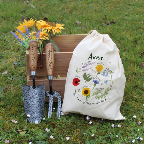 Personalised Save The Bees Gardening Set
