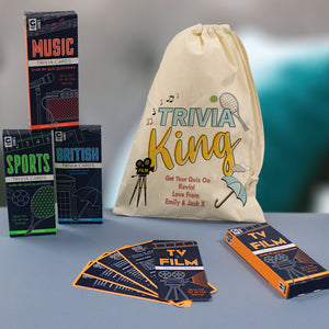 Trivia King Quiz Set In Personalised Bag