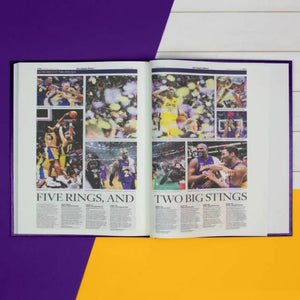 Personalised Kobe Bryant Tribute – LA Times Newspaper Book