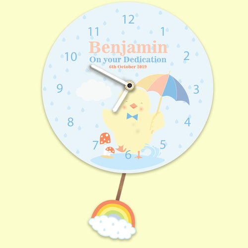 Personalised Any Occasion Little Chick Wall Clock