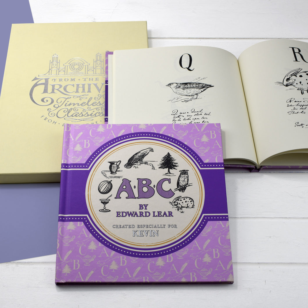 Edward Lear's ABC Alphabet Poems Personalised From The Archives Book