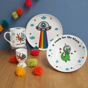 Personalised Flossy & Jim Cosmic Breakfast Set