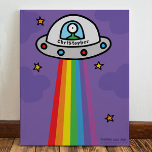 Personalised Cosmic Spaceship Wall Canvas