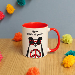Personalised Peace Panda Mug