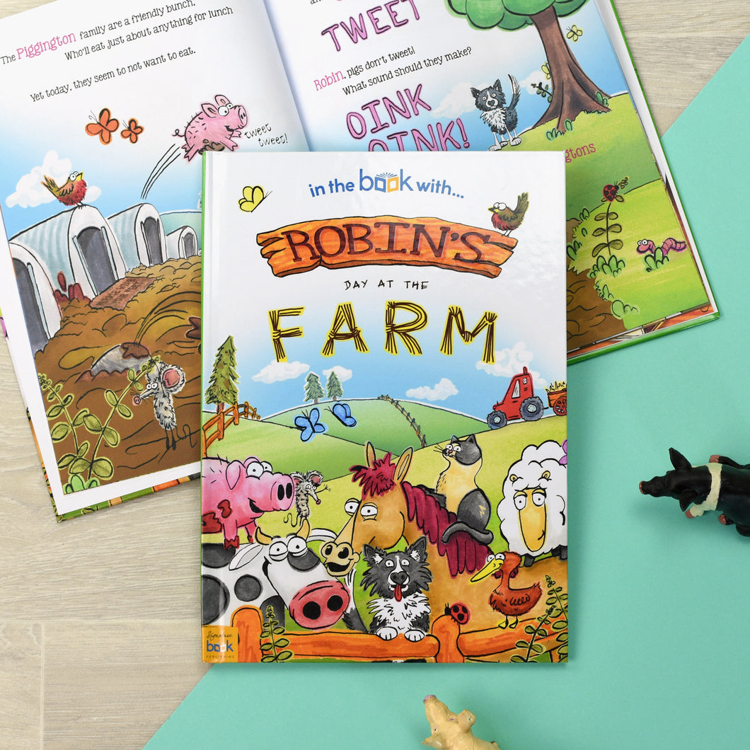 My Day At The Farm Personalised Children's Book