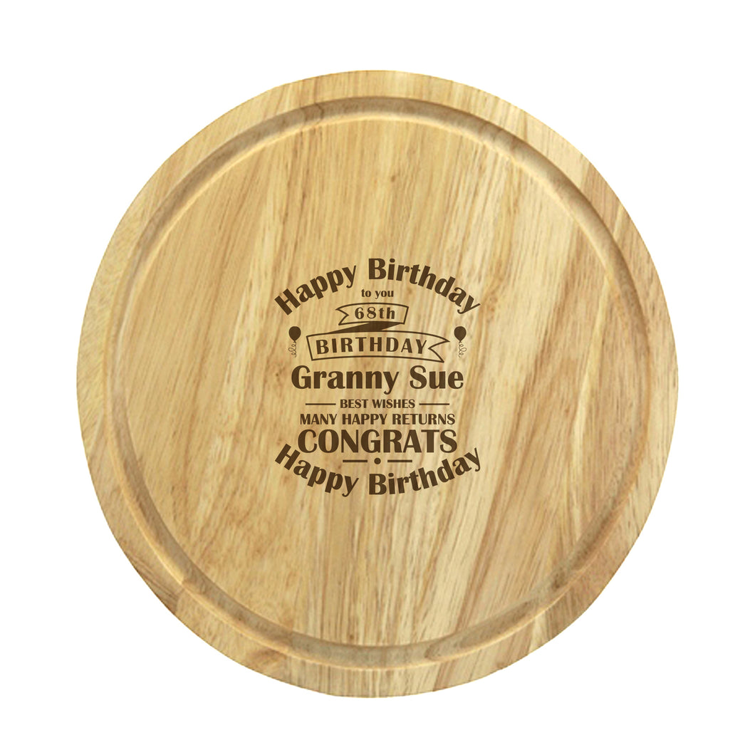 Personalised Birthday Celebration Wooden Chopping Board