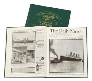 Personalised The Sinking Of The Titanic Newspaper Book