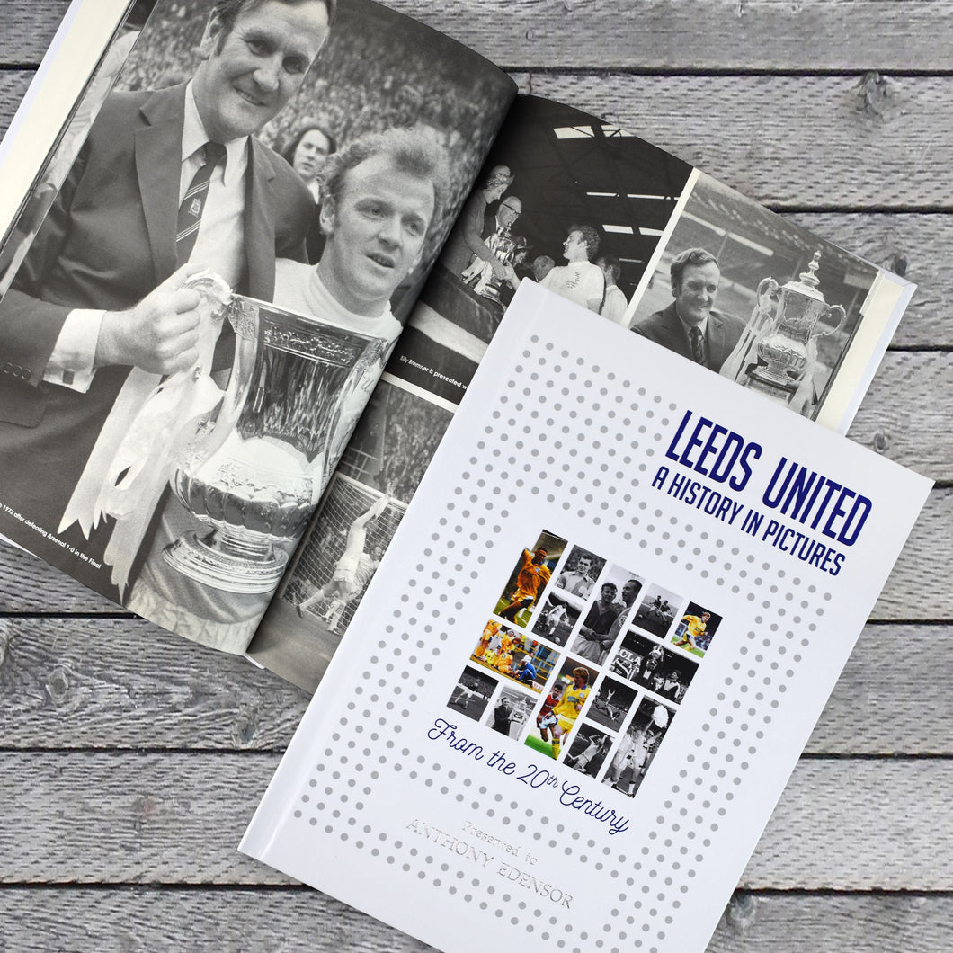 Personalised Leeds United F.C. Picture History Book