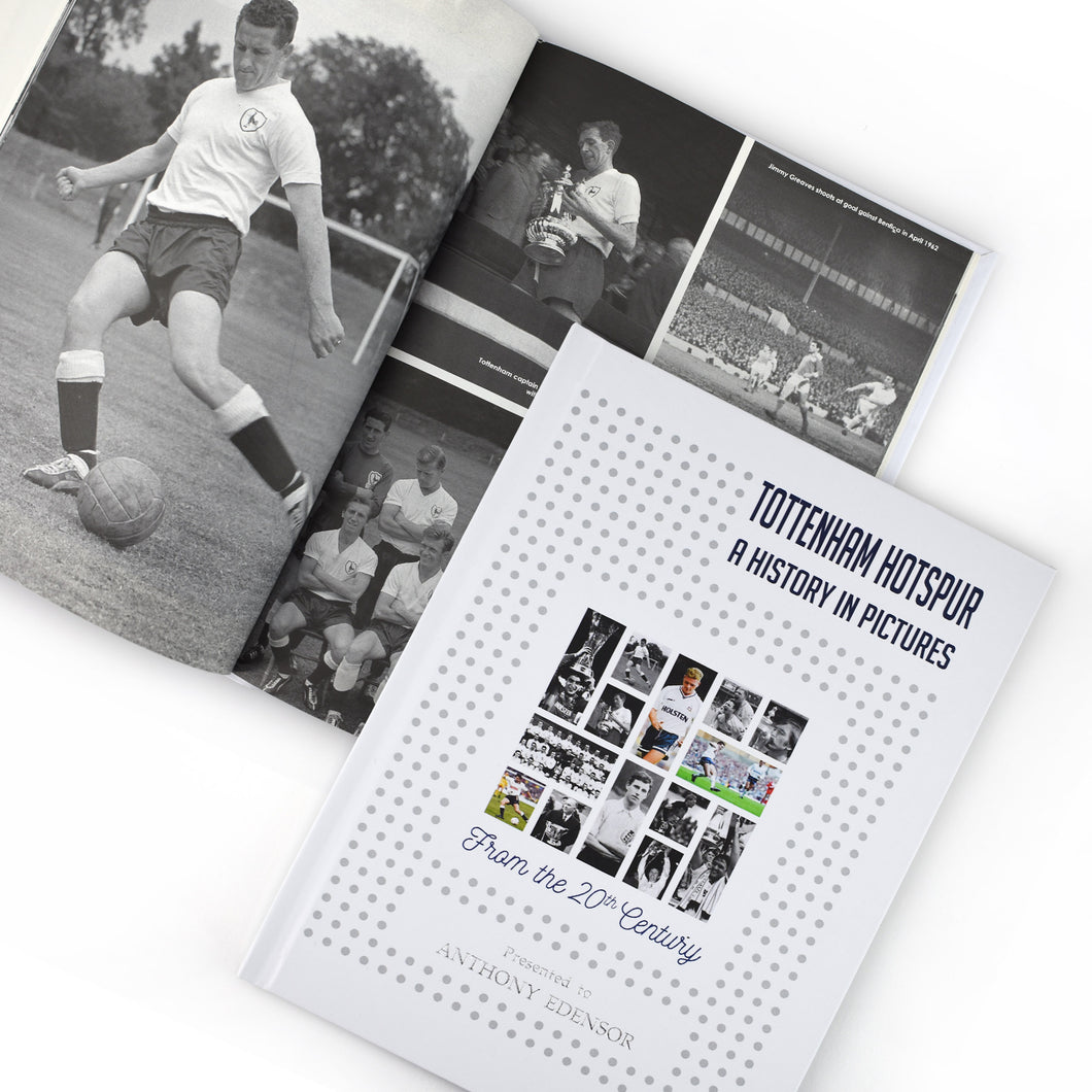 Personalised Tottenham Hotspur F.C. Picture History Book