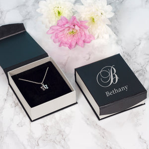 Sterling Silver Butterfly Necklace In Personalised Gift Box