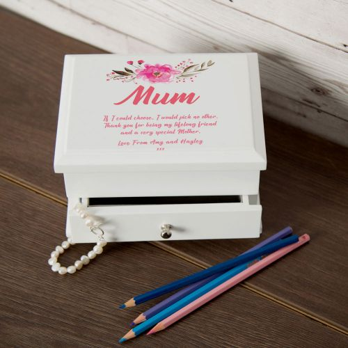Personalised Lined Jewellery Box For Mum