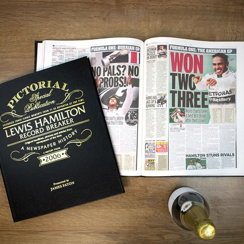 Personalised Lewis Hamilton: Record Breaker Pictorial Newspaper Book