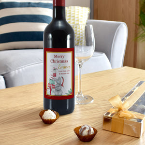 Personalised  Me To You Christmas Gifts Design Red Wine