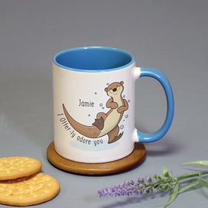 Personalised Otter-ly Adore You Mug