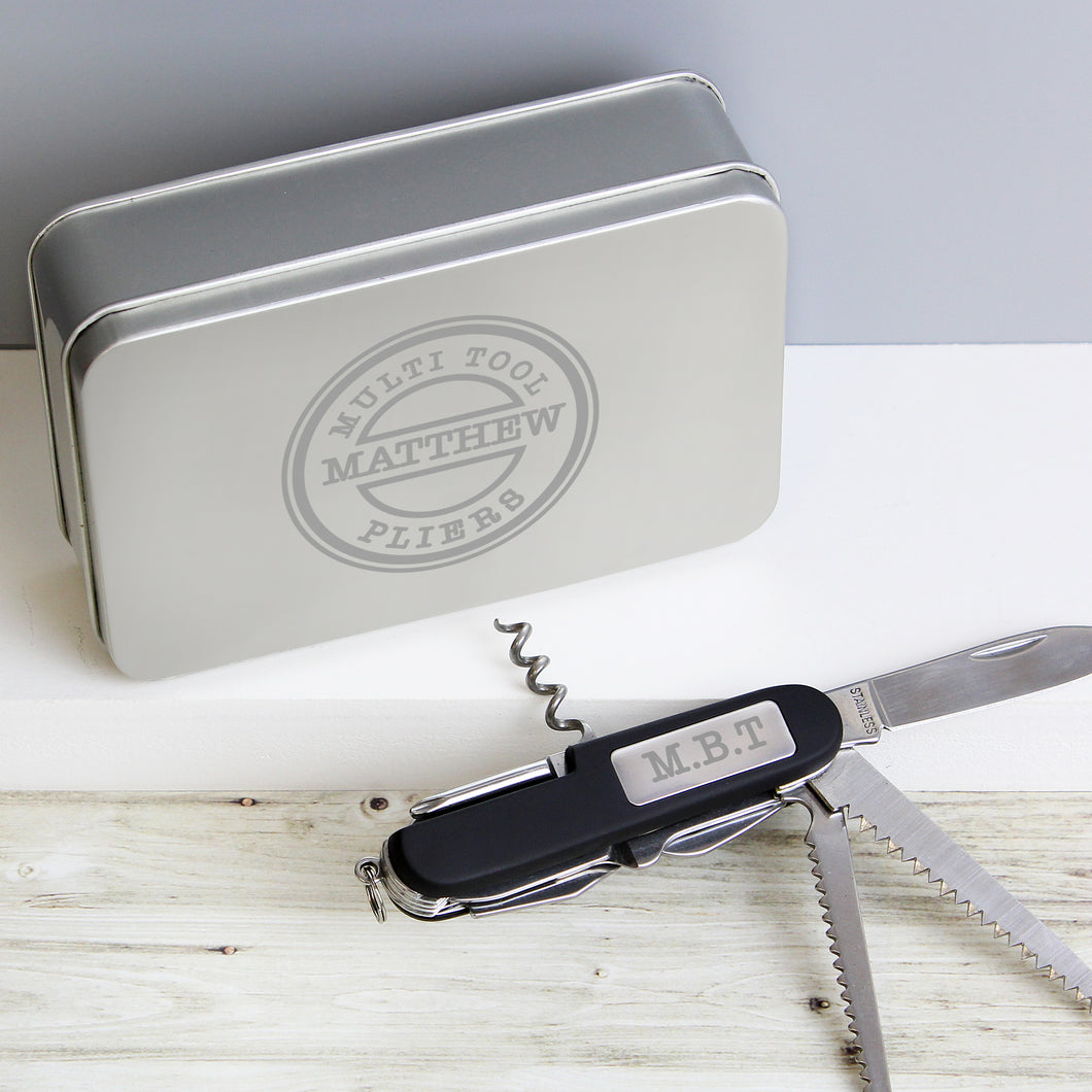Personalised Army Pen Knife and Tin Set