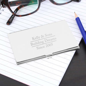 Personalised Stainless Steel Business Card Holder