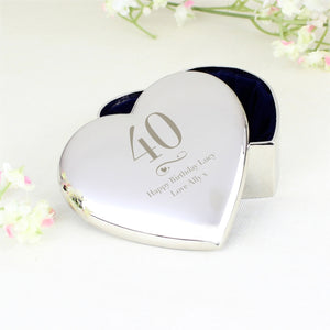 Personalised Birthday Heart Shaped Trinket Box