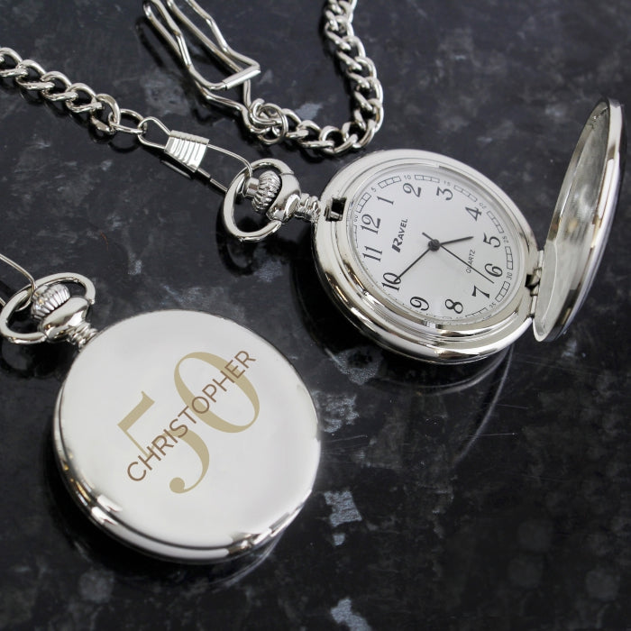 Personalised Any Age Birthday Classic Pocket Fob Watch