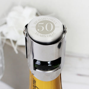 Personalised Birthday Bottle Stopper
