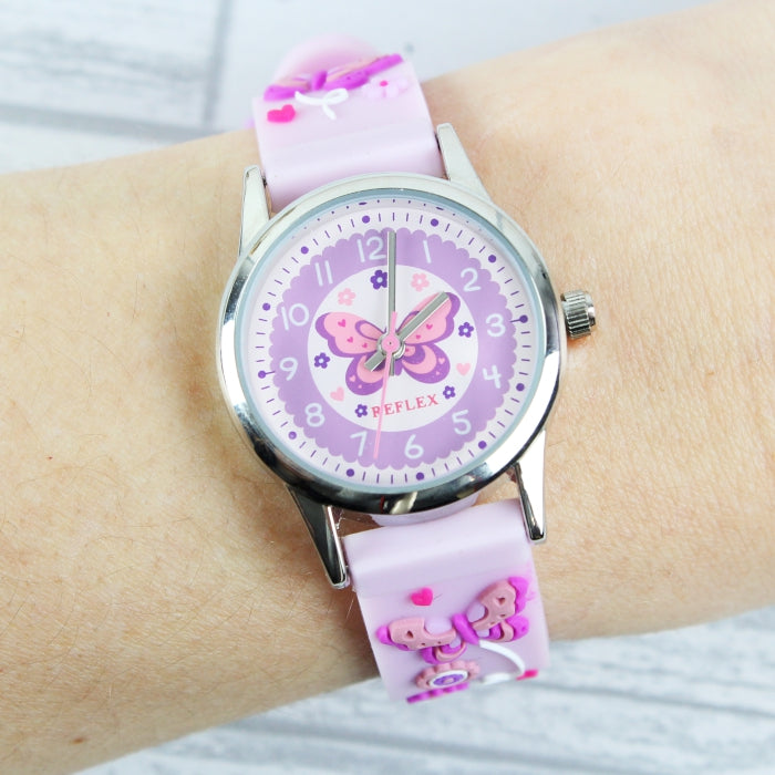 Personalised Kids Pink Time Teacher Watch with Presentation Box