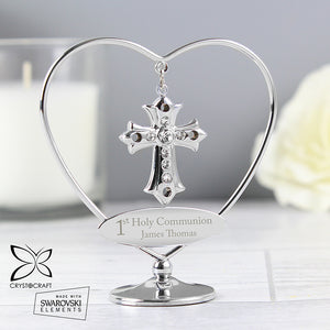 Personalised 1st Holy Communion Crystocraft Silver Plated Cross