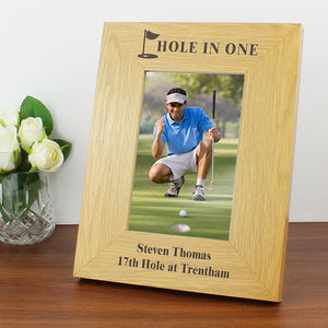 Personalised Hole In One Golf Themed Photo Frame