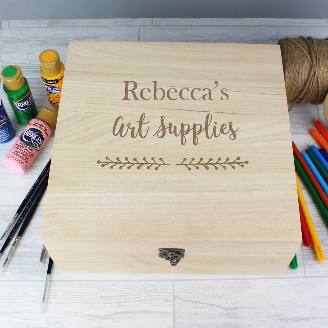 Personalised Art Supplies Storage Box