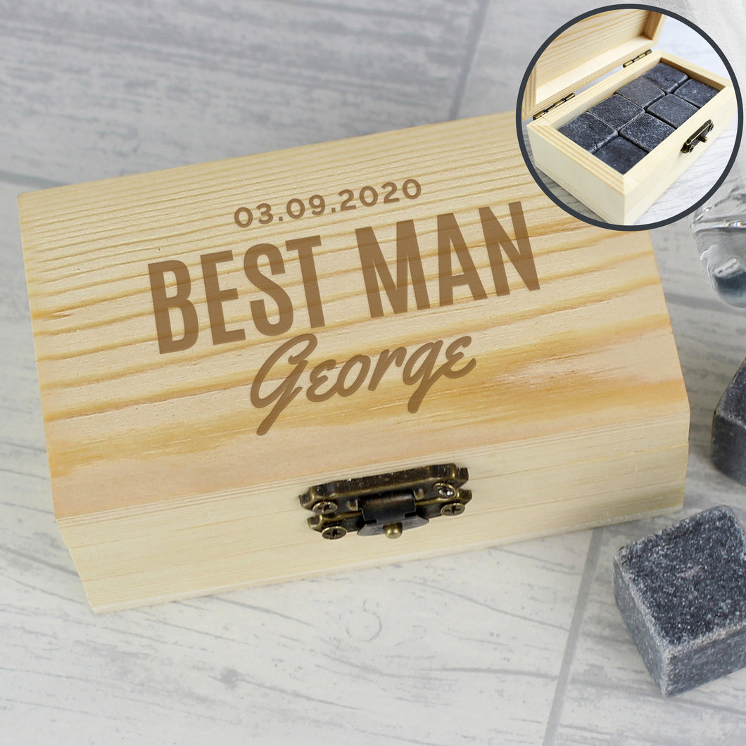 Personalised Whisky Stones Set For Best Man