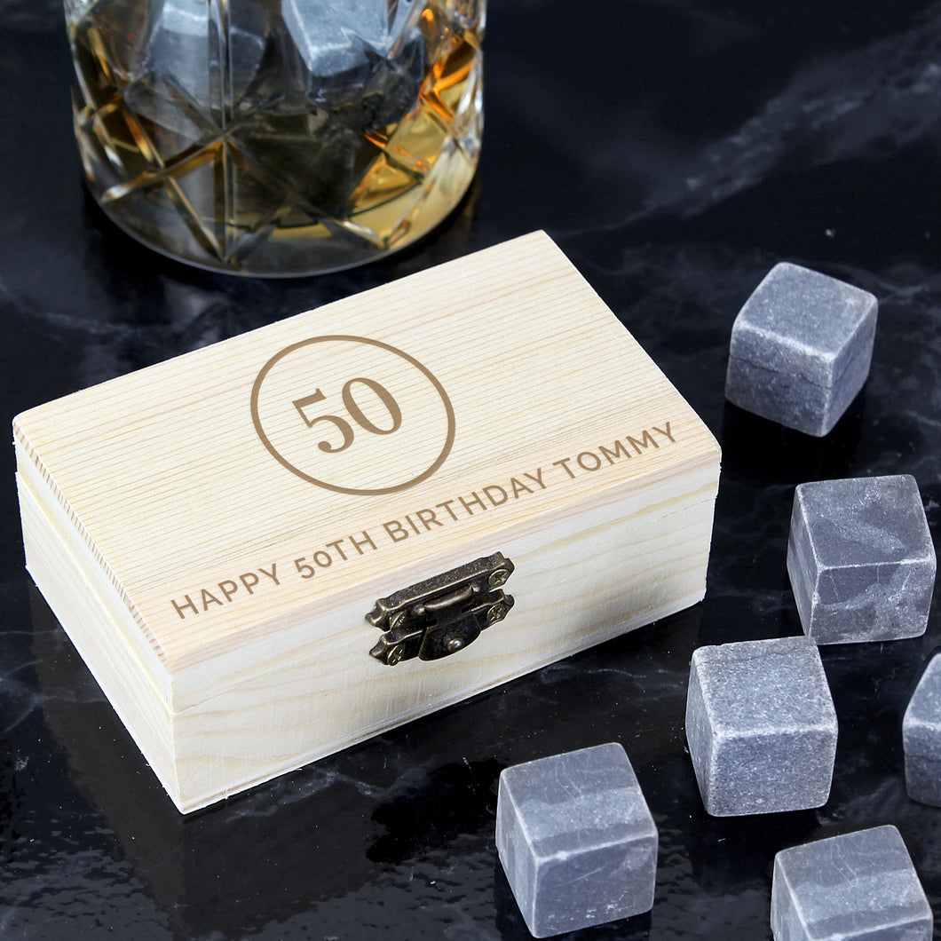 Personalised Birthday Whisky Stones Set