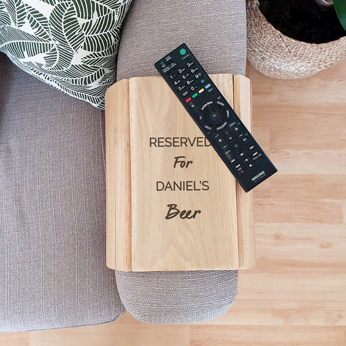 Personalised Wooden Sofa Tray Any Message