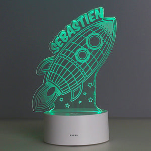 Personalised Colour Changing Rocket Design LED Night Light