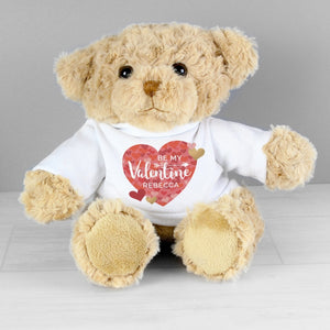 Personalised Be My Valentine Teddy Bear - Nola Gifts UK