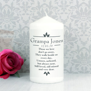 Personalised 'Those We Love' Memorial Pillar Candle